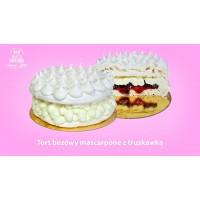 Tort Bezowy Mascarpone z Truskawkami