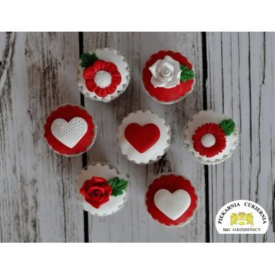 Cupcake Serca 6 szt